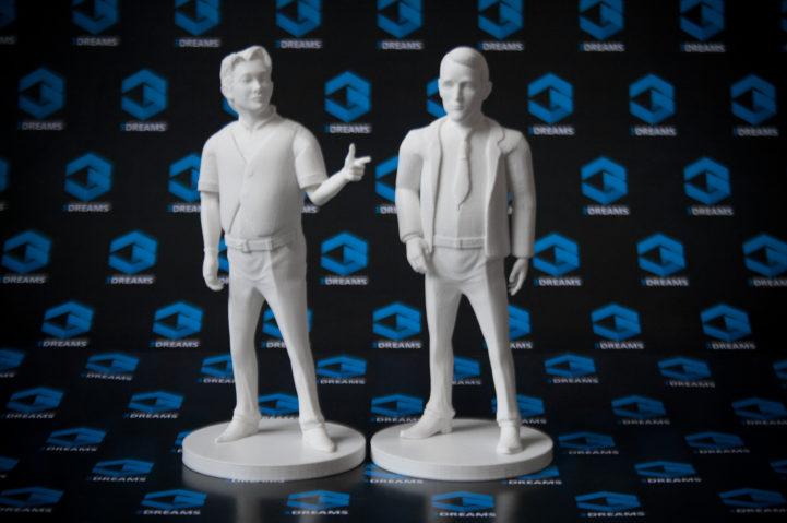 Menschliche Miniaturfigur, gedruckt auf einem 3D-Drucker