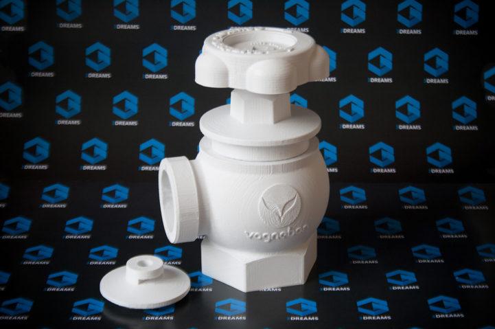Bedrucktes Ventil für Hydranten aus weißem ABS-Kunststoff
