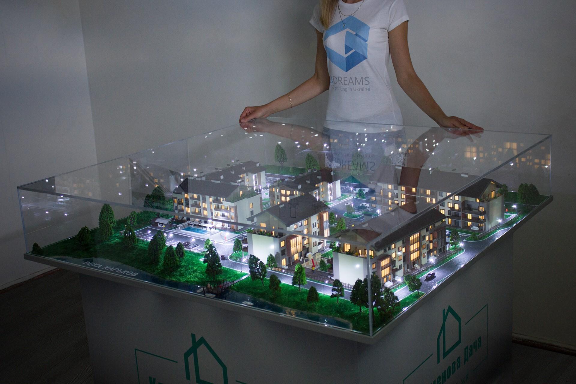 Architekturmodell der Wohnanlage hat in unserer Modellwerkstatt hergestellt