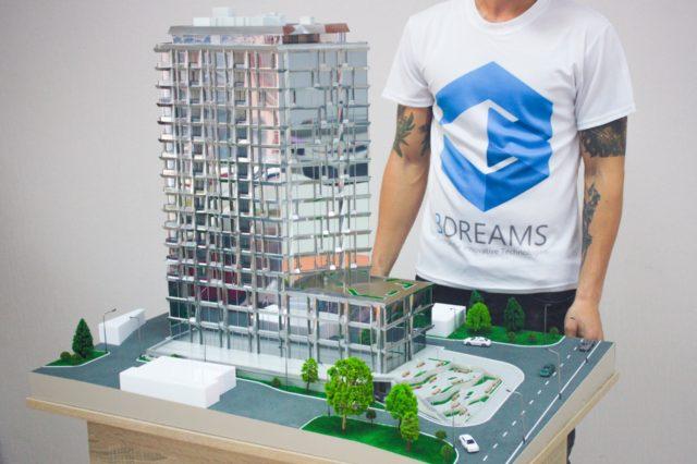 Architekturmodellbau Spiegelgebäude