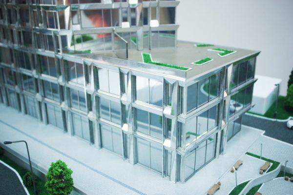 Spiegelgebäude Modellbau